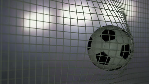 Football Goal Nighttime Animation