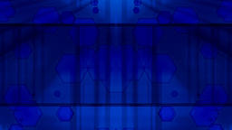 Abstract blue background with moving geometric shapes Live Action