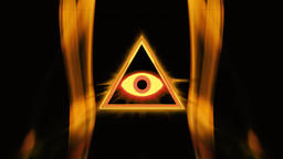 All-seeing eye in the center of the triangle Live Action