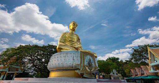 Golden Buddha statue, Buddha Kittisiri ChaiThe beautiful temple Live Action
