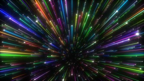 Colorful Shining Starburst Background Animation