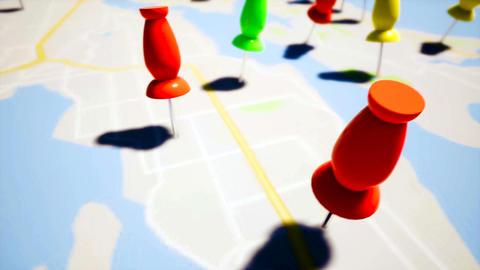 Travel destination points, close up Live Action