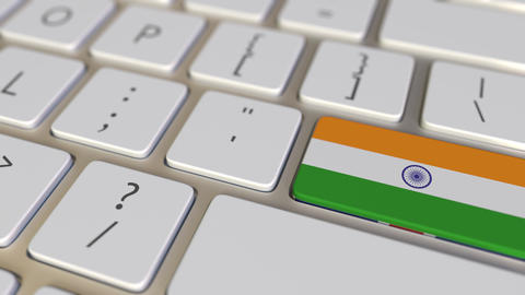 Key with flag of India on the computer keyboard switches to key with flag of Live Action