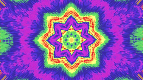 Motion kaleidoscope background, colorful particles, organic mix of colors Live Action