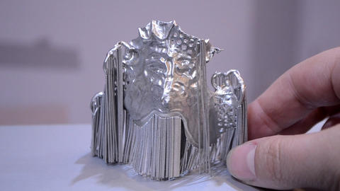 Object printed on metal 3d printer Footage
