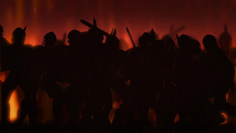 Ancient Warriors in a Battle (Animation) Animation