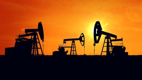 Oil pump oil rig energy Animation