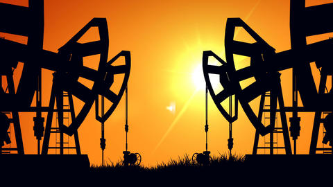 Pumpjacks Silhouette Animation