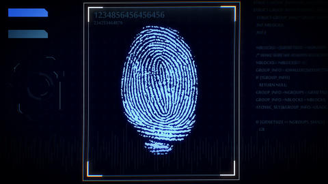 Fingerprint scanner, identification system Animation