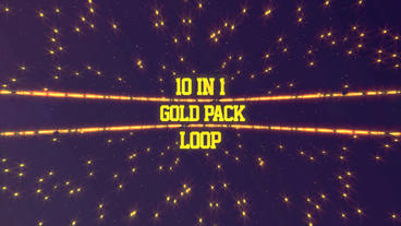 10 in 1 Gold Backgrounds Pack After Effects Template