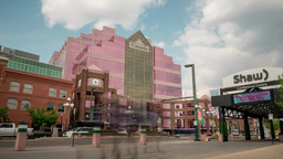 Motion Timelapse of Canada Place building in Edmonton, Alberta Live Action