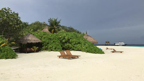 Beach Resort island Male Maldives Island Footage