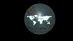 Earth Shield in Motion. Nice 3D Rendering Animation