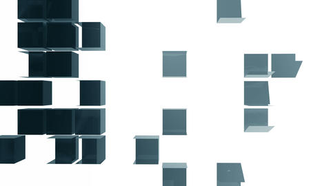 Folding cube background 03 Animation