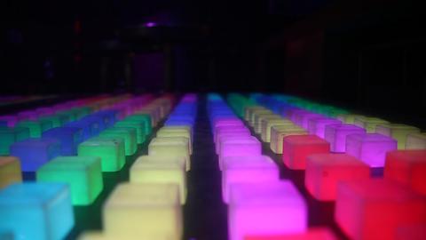 Led Lights Decorate Footage