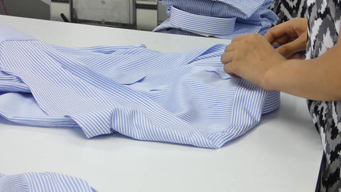workshop in sewing shirts in a textile factory Live Action