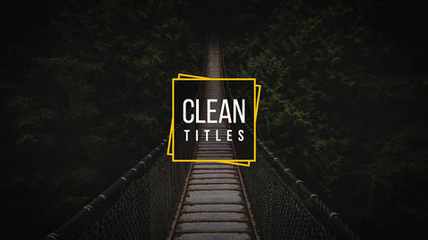 Clean Titles After Effects Template