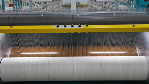 textile yarn processing shop Footage