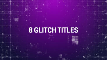Cinematic Glitch Titles After Effects Template
