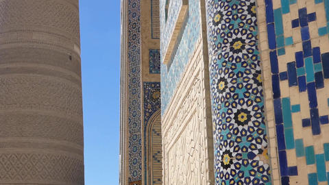 elements of ancient architecture of Central Asia Footage