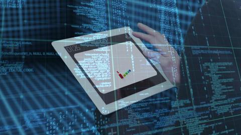 Close up of digital tablet Animation