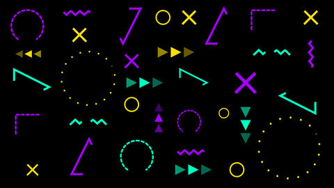 Animated Geometric Hipster Pattern GIF