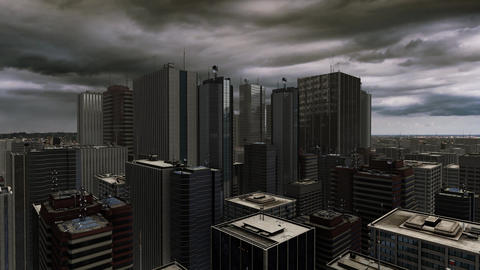 Urban Modern Buildings Animation