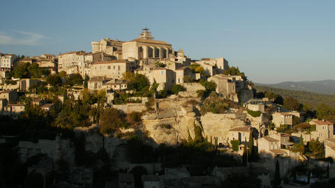 Gordes, France. Gordes is a commune in Provence in southern France. Panoramic Live Action