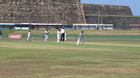 Galle, Sri Lanka - 2019-04-01 - Teenage Cricket Practice - Foul Ball Footage
