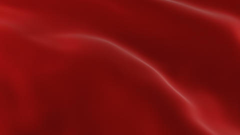 Red Waving Cloth Flying Away Opening Background. Abstract Wavy Silk Textile Live Action
