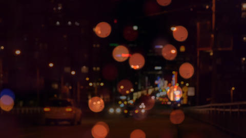 Bokeh of a city road by night Animation
