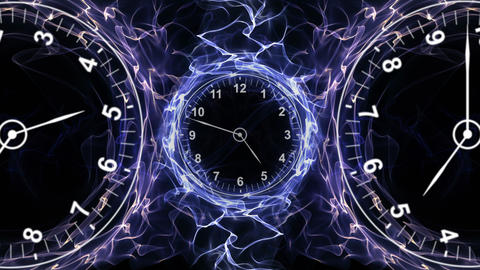 Clocks Animation, Time Concept, Rendering, Background, with Alpha Channel, Loop, 4k Animation