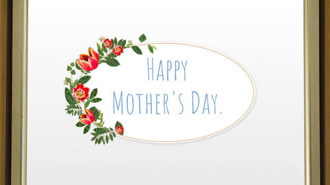 happy mother day text Animation