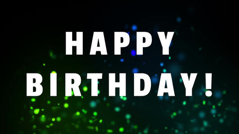 Happy birthday text on a dancing lights background Animation