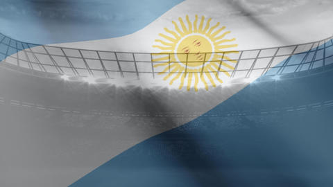 Argentina flag floating in the wind Animation