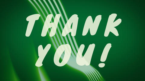 Thank you with green moving animation Animation