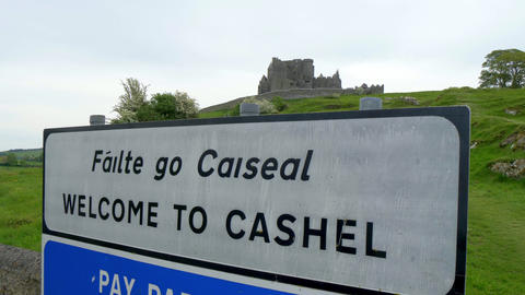 Welcome to the Rock of Cashel - a famous landmark in Ireland - CASHEL, IRELAND - Live Action