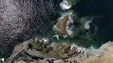 Wild Atlantic Ocean from above - aerial drone footage Live Action