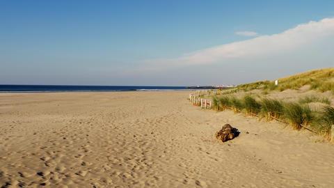Sandy beach of Castlerock in Northern Ireland Footage