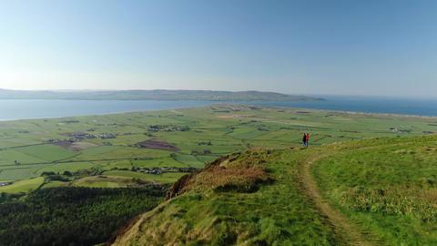 Wonderful landscape of Binenenagh in North Ireland Live Action