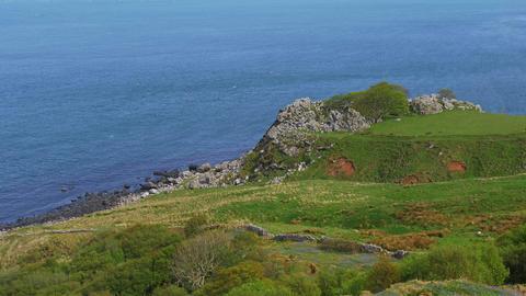 Beautiful Murlough Bay in Northern Ireland Footage