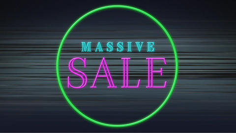 Green circle with massive sale text Animation