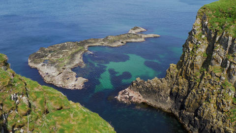 Amazing Causeway Coast in Northern Ireland on a sunny day Live Action