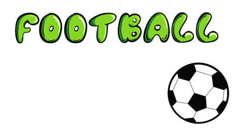 Soccerball and football on white back Animation