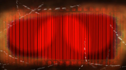 opening curtains of a theatre Animation