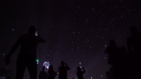 Night lantern baloons Footage