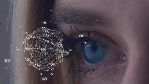 Slow motion eye opening Animation