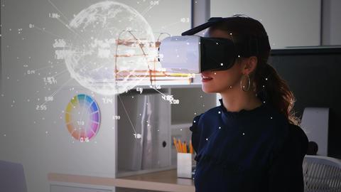 Women using virtual reality glasses Animation