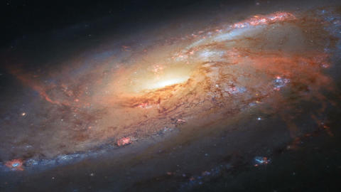 Spiral Galaxy Milky Way Animation