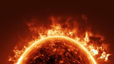Sun surface and solar flares Animation